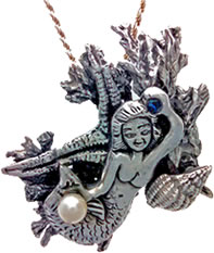 Silver Metal Clay Mermaid
