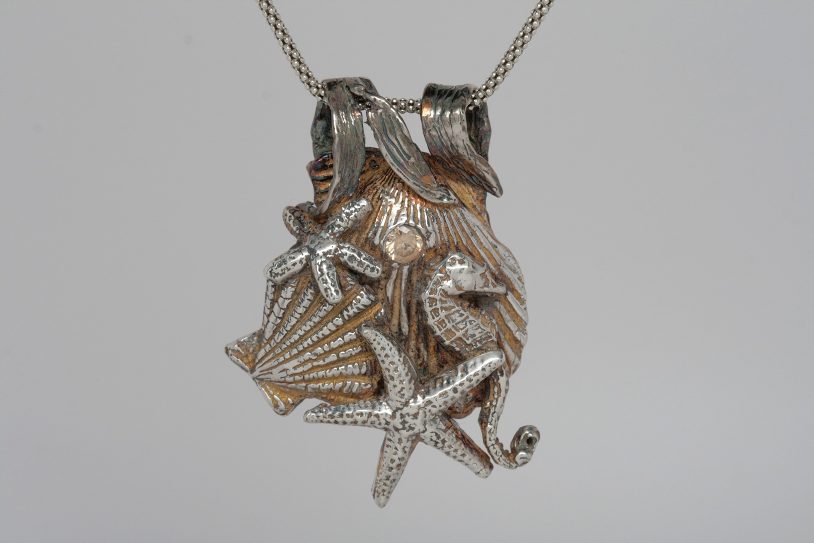 Silver Metal Clay: Sea Horse and Shells
